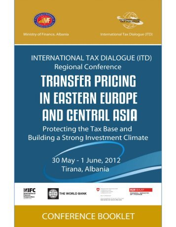 Conference booklet - International Tax Dialogue