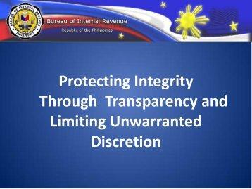 Ms. Kim Jacinto-Hinares, BIR, Philippines - International Tax Dialogue