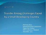 Ms. Ketty Masu, IRC, Papua New Guinea - International Tax Dialogue