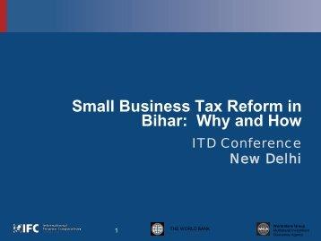 Small Business Tax Reform In Bihar - International Tax Dialogue