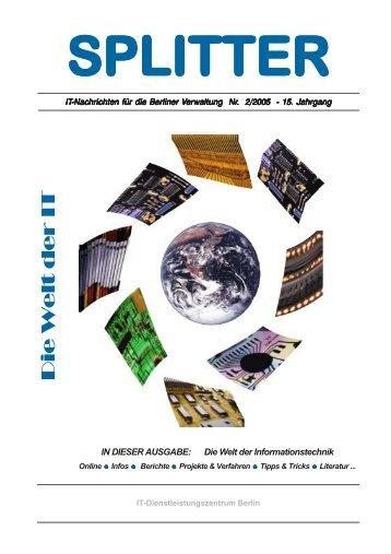 2. Ausgabe: Die Welt der IT (PDF) - IT-Dienstleistungszentrum Berlin