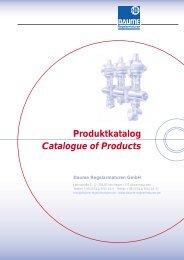 Produktkatalog Catalogue of Products - Daume Regelarmaturen ...