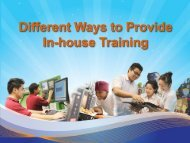 Different Ways to Provide In-house Training - Institute of Technical ...
