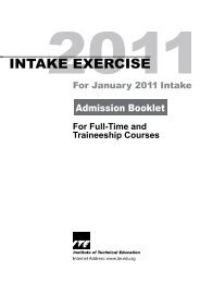 information on full-time nitec courses under joint intake exercise 'n'