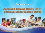 Approved Training Centre (ATC) Communication Session 1/2012