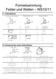 Formelsammlung Felder und Wellen – WS10/11 - ITE