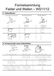 Formelsammlung Felder und Wellen – WS11/12 - ITE
