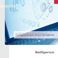 Fachtagung Product Lifecycle Management - Itelligence AG