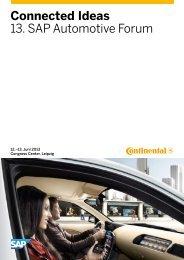 Connected Ideas 13. SAP Automotive Forum - SAP.com