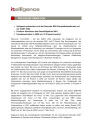 Mehr Informationen - Itelligence AG