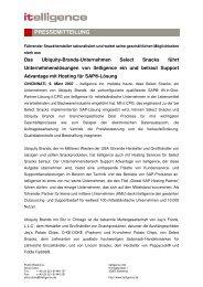 itelligence - Pressemitteilung - Ubiquity - Itelligence AG
