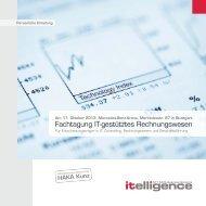 Fachtagung IT-gestütztes Rechnungswesen - Itelligence