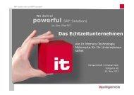 1 Wie In Memory Technologie Mehrwerte für Ihr ... - Itelligence AG