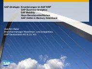 SAP HANA - Itelligence AG
