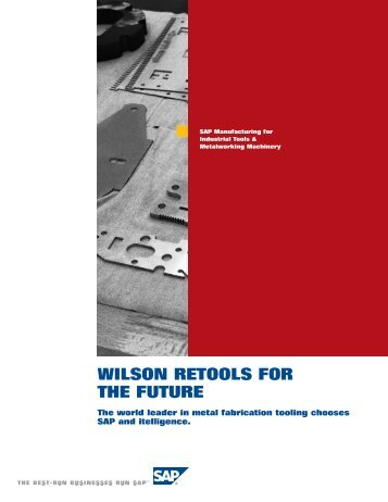 WILSON RETOOLS FOR THE FUTURE - itelligence