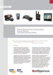 Cobra Electronics Corporation - itelligence