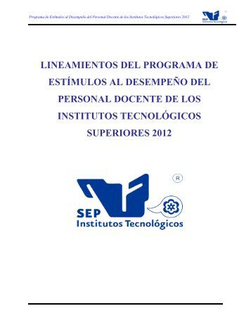 Lineamientos Generales 2012 - Instituto Tecnológico Superior de ...