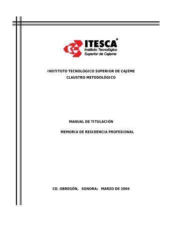 Memoria de Residencia Profesional - Instituto Tecnológico Superior ...