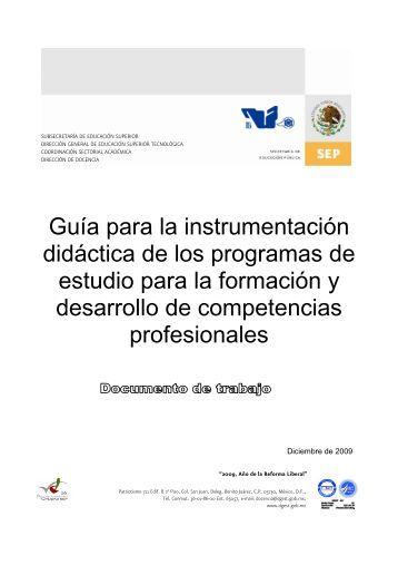 Guía para la instrumentación didáctica de los programas de estudio ...