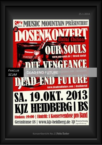 DEAD END FUTURE Konzertbericht No.2