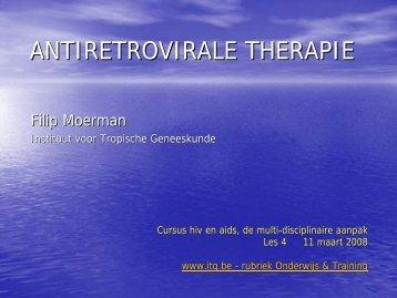 ANTIRETROVIRALE THERAPIE - Itg