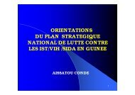 orientations du plan strategique national de lutte contre les ist ... - Itg