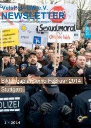 Bildungsplandemo Februar 2014 Stuttgart