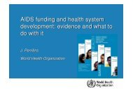 HIV/AIDS and the health sector - Itg