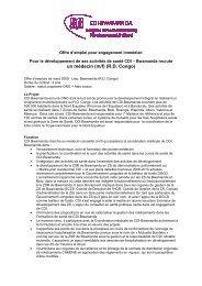 (2009 jobdescripton Médecin CDI-Bwamanda) - Itg.be