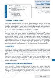 1. general information 2. objectives 3. course structure and ... - Itg