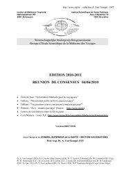 EDITION 2010-2011 REUNION DE CONSENSUS 04/06/2010 - Itg