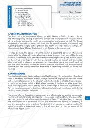 1. GENERAL INFORMATION 2. PROGRAMME - Itg