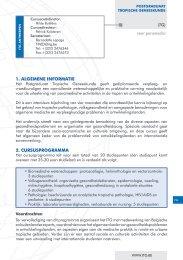 1. ALGeMene inFORMATie 2. cURSUSPROGRAMMA - Itg