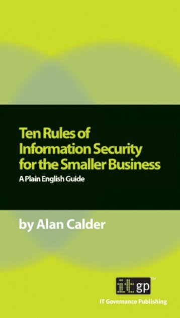 Ten Rules of Information Security for the Smaller Business