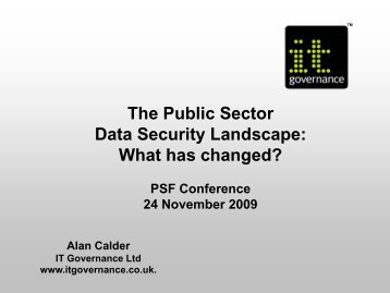 PSF Conference 24 Nov 2009.pdf - IT Governance Ltd