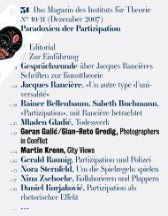 Paradoxien der Partizipation. 31 Das Magazin des Instituts für ...