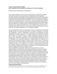 Towards a New Aesthetic Paradigm Ethico-aesthetics and the ...