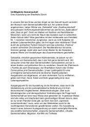 Un/Mögliche Gemeinschaft Eine Ausstellung der Shedhalle Zürich ...