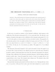 THE CHROMATIC POLYNOMIAL OF P2 × Pn AND ... - Ithaca College