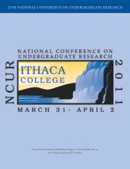 ncur 2011 conference program ithaca college 25th national