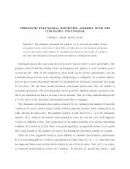 CHROMATIC POLYNOMIAL IDENTITIES: ALGEBRA WITH THE ...