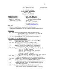 Curriculum Vitae - Ithaca College
