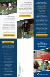 Summer Sessions Brochure - Ithaca College