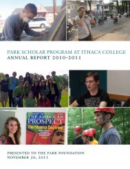 ANNUAL REpoRt 2010-2011 - Ithaca College