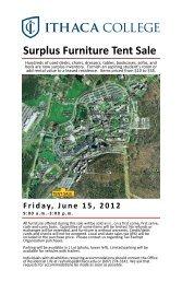 Download Surplus Furniture Tent Sale Catalog - Ithaca College