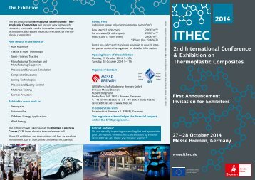 First Announcement and Invitiation for Exhibitors ITHEC 2014