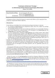 091009 Studienplan Fü BA min - Institut für Theologie und ...