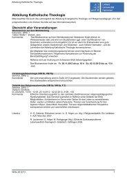 Abteilung Katholische Theologie - Institut für Theologie und ...