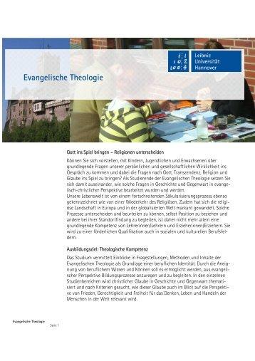 Evangelische Theologie / Religionspädagogik - Institut für Theologie ...