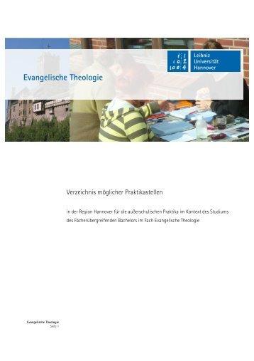 Verzeichnis Praktikastellen - Institut für Theologie und ...